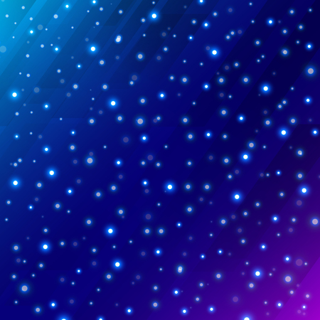 Abstract universe scientific outer space on dark blue background with meteor circle glowing. Vector illustration Illustration