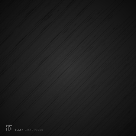 Black background and texture. Abstract realistic metal fiber. Vector illustration Vettoriali