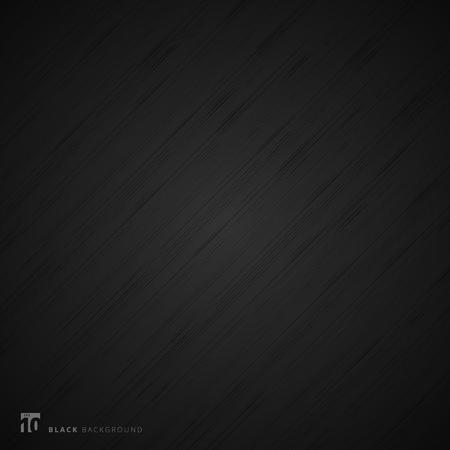 Black background and texture. Abstract realistic metal fiber. Vector illustration Illusztráció