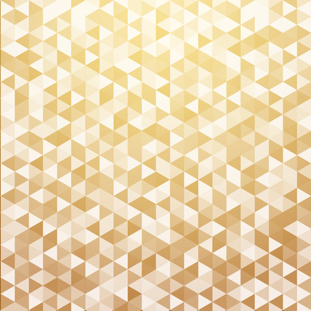 Abstract luxury striped geometric triangle pattern gold color background and texture. Vector illustration
