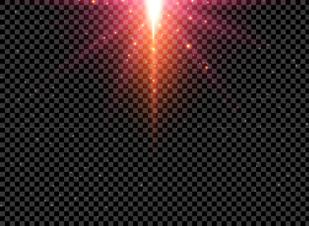 Abstract futuristic infinite universe space on tranperency background with lighting effect. Vector illustration Ilustração