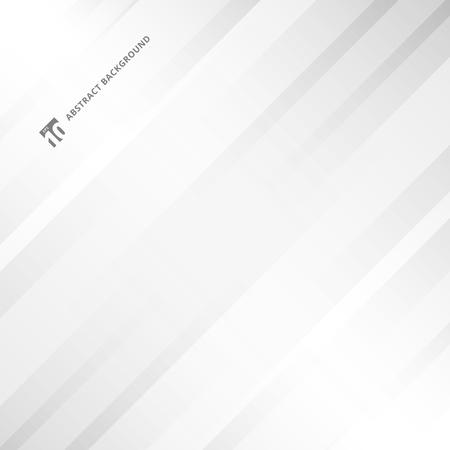 Abstract gray and white gradient stripe oblique lines background with copy space. Vector illustration