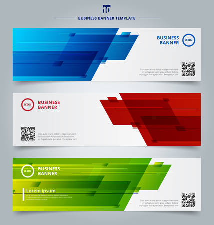 Set of banner web headers template abstract geometric design background technology concept. Vector illustration