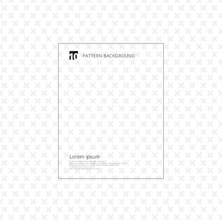 Gray cross pattern. Geometric gray plus seamless on white background. Vector illustration Ilustração