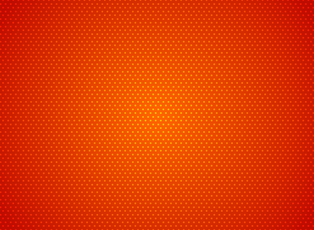 Abstract dots pattern on red background futuristic technology concept. Digital particles element texture. Vector illustration Ilustração