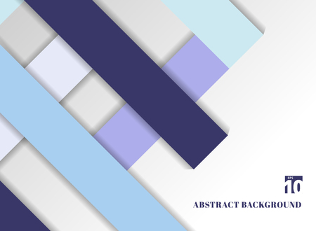Template abstract geometric blue color tone background with square frames. Material design backdrop origami style. You can use for brochure, business card, poster, booklet. website, banner, mobile app, print, ad, leaflet, annual report