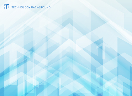 Abstract technology geometric corporate arrows on blue background. Vector illustration Çizim