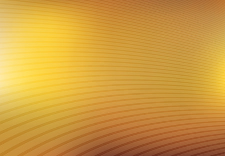 Abstract gold and yellow mesh gradient with curve lines pattern textured background, Vector illustration Ilustração