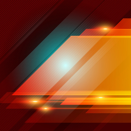 Abstract technology geometric red color shiny motion background. Template with header and footer for brochure, print, ad, magazine, poster, website, magazine, leaflet, annual report. Vector corporate design