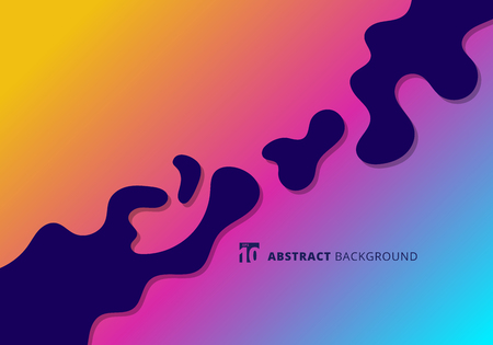 Abstract bright splashes in minimal flat style. Modern wavy shapes background with copy space. Vector illustration Ilustração
