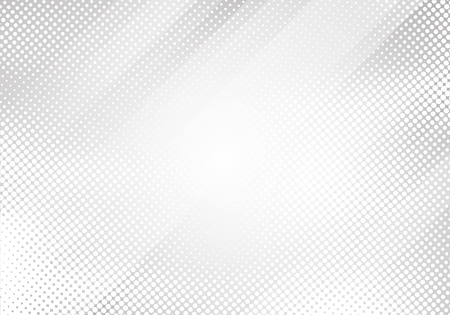 Abstract white and gray gradient color oblique lines stripes with halftone texture and background. Geometric minimal pattern modern sleek texture. Vector illustration