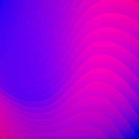 Abstract blue and pink gradient color striped lines wave pattern background and texture. You can use for template, brochure. leaflet, poster, print, ad, banner. Vector illustration