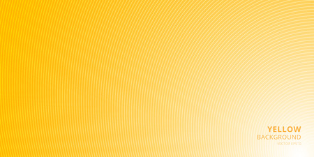 Smooth light yellow background with curved lines pattern texture with place for text. You can use cover brochure, card, banner web, poster, print, etc. Vector illustration Stok Fotoğraf - 125281828