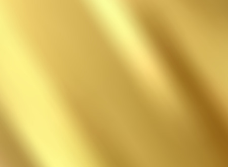 Gold satin and silk cloth fabric crease background and texture. Vector illustration Ilustração