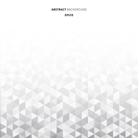 Abstrakte gestreifte geometrische Dreiecke mustern grauen Farbhintergrund und Textur mit Kopienraum. Vektor-Illustration Vektorgrafik