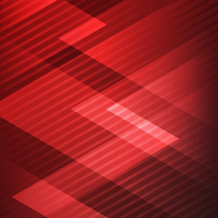 Abstract elegant geometric triangles red background with diagonal lines pattern technology style. Vector illustration Ilustração