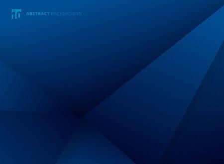 Modello astratto triangoli geometrici gradiente blu colore sfondo moderno design. È possibile utilizzare per brochure, presentazioni, poster, volantini, volantini, stampa, pubblicità, banner web, siti web. Illustrazione vettoriale Vettoriali