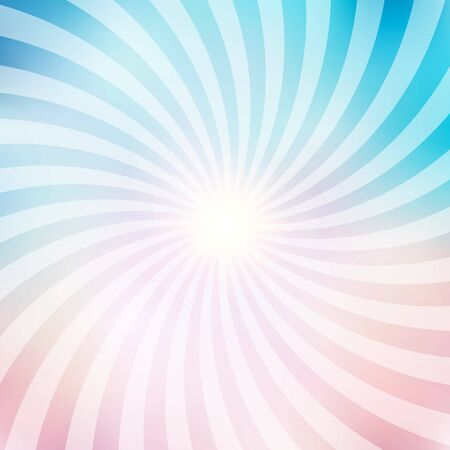 Abstract circus retro graphic radius effects blue and pink pastel color and light effect for comic background. Vector illustration