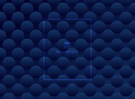 Abstract dark blue circles pattern subtle background and texture. Luxury style trellis. Repeat geometric. Vector illustration Ilustrace