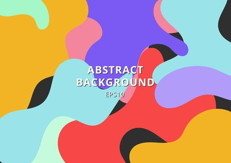 Abstract colorful free form shape background. Fluid forms shapes vibrant color. Vector illustration