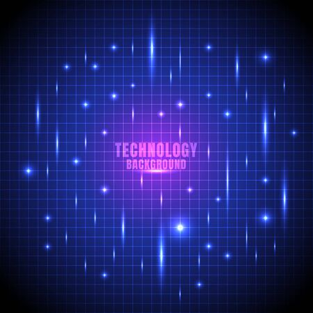 Abstract technology futuristic glow line grid with laser light blue background. Vector illustration Vektorové ilustrace