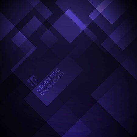 Abstract purple gradient color geometric square overlay modern background design. Vector illustration