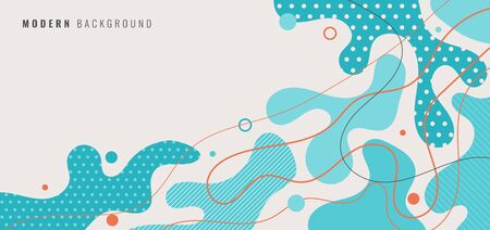 Abstract modern background blue dynamic shapes with line and spot. Vector illustration