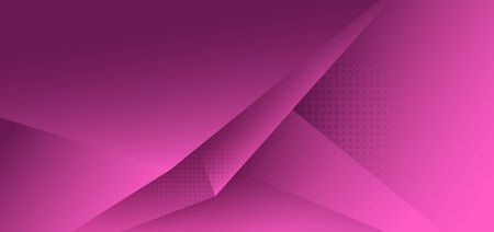 Abstract pink polygon triangle gradient background with shadow and space for your text. Vector illustration
