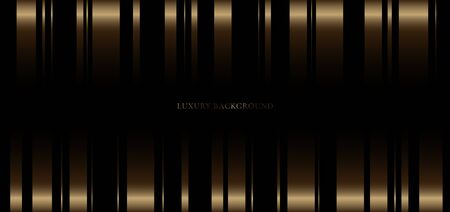 Abstract background golden vertical stripes line on black premium background. Luxury style. You can use for banner web, gift voucher, coupon template, etc, Vector illustration