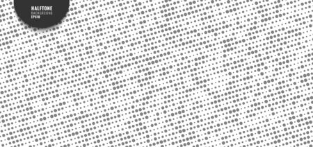 Abstract simple gray random dotted pattern on white background and texture halftone style. Vector illustration  イラスト・ベクター素材