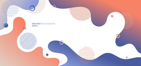 Abstract modern fluid or liquid gradient colors with geometric elements on white background. Vector illustration