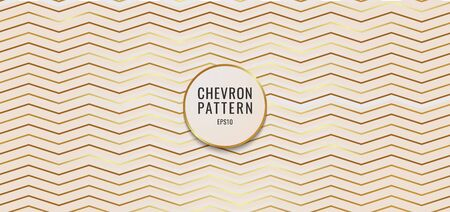 Abstract background chevron pattern gold metallic. Vector illustration