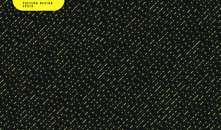 Abstract yellow rounded shape diagonal pattern on black background. Vector illustration