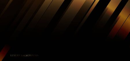 Abstract background golden diagonal stripes line on black premium background. Luxury style. You can use for banner web, gift voucher, coupon template, etc, Vector illustration  イラスト・ベクター素材