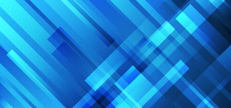 Abstract blue stripes overlapping technology futuristic concept background. Vector illustration
