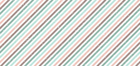 Abstract classic retro style diagonal stripes pastel color background with white dots spread. Vector illustration