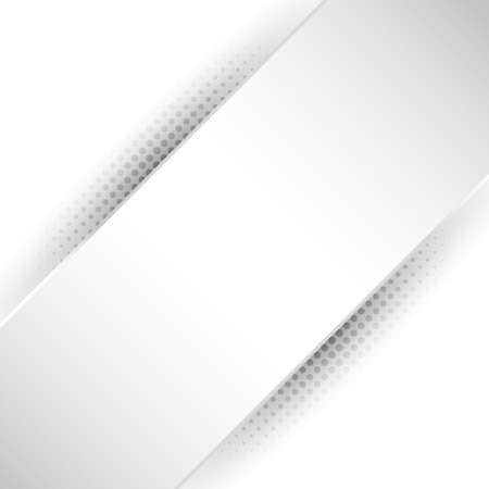 Abstract white and gray stripe diagonal background with shadow halftone texture. Vector illustration