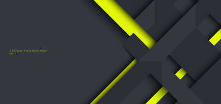 Template technology corporate concept abstract triangle geometric black and yellow on dark background with space for your text. Vector illustration Illusztráció