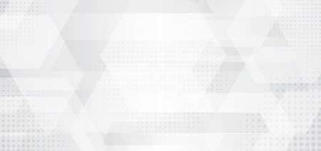 Template abstract banner web white and gray overlap layer dimension with lighting on clean background space for your text. Luxury style. Vector illustration