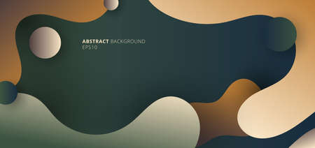 Abstract modern fluid gradient shape on natural color background. Vector illustration