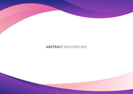 Abstract business template pink and purple gradient wave or curved shape isolated on white background with space for your text. Vector illustration 向量圖像