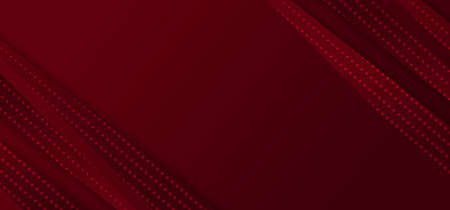 Abstract red gradient diagonal stripes lines with dots pattern on dark red background. Vector illustration
