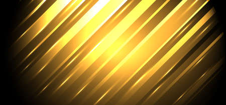 Abstract background golden diagonal stripes lines with glowing light. Luxury style. Vector illustration Ilustração