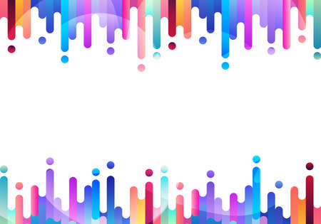 Abstract fluid or liquid colorful rounded lines transition elements on white background with space for your text. Vector Illustration