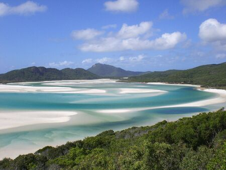 whitsundays: Whitehaven Beach Stock Photo
