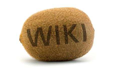 wiki wikipedia: Concept wiki on kiwi. Encyclopedia wikipedia in a unusual way displayed.