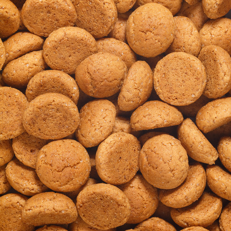 strooigoed: Square of pepernoten, ginger nuts. A dutch treat for Sinterklaas celebration on 5 december. Event in Holland, Netherlands.
