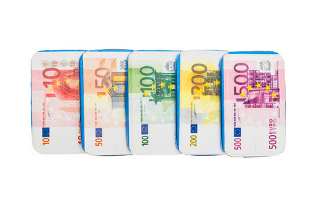 '5 december': Fake euro banknotes of chocolate for Sinterklaas. Event in Holland, Netherlands and Belgium on 5 december.