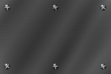 room for your text: Metal background rectangle with six bolts or screws. Room for your text, copy space