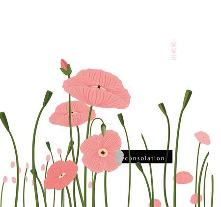 양귀비 꽃, 위로와 다산을 상징한다.